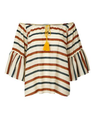 Off the shoulder striped top edited