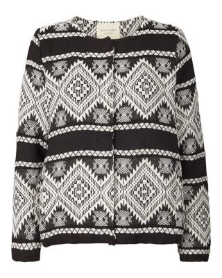 Black and white aztec jacket edited