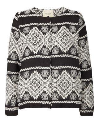 Black and white aztec jacket edited