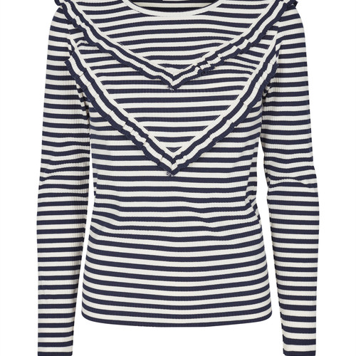 stripy cotton top
