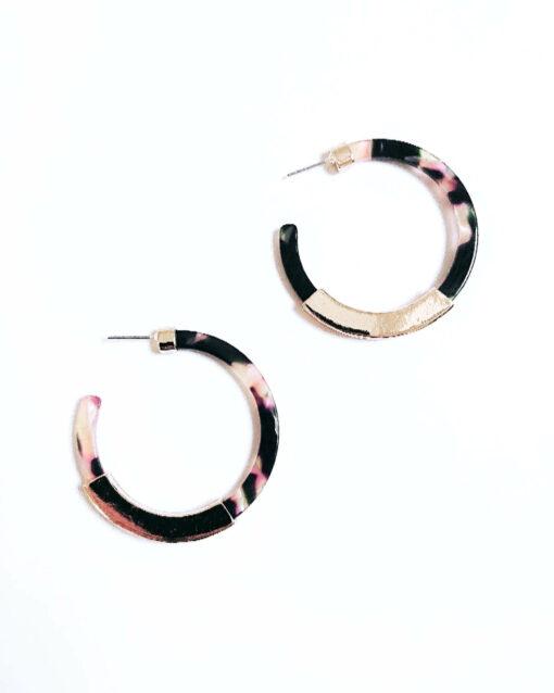 hoop earrings multi colour