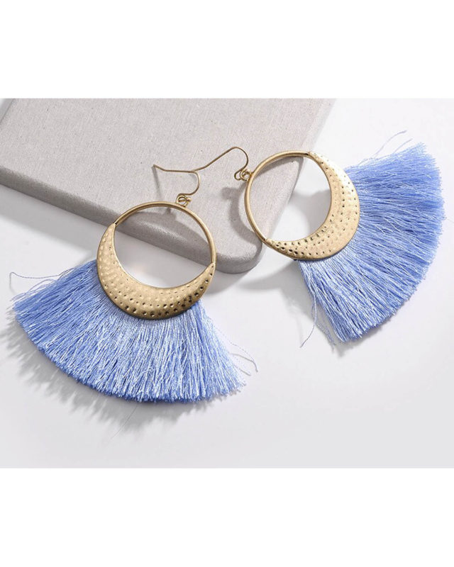 beach blue earrings