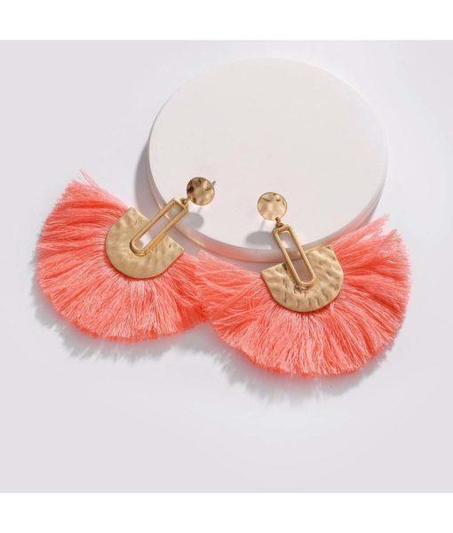 coral beach earrings