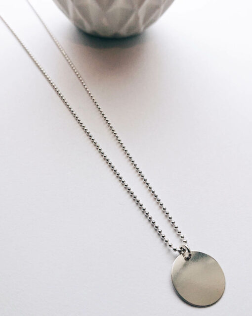 long bead necklace sterling silver