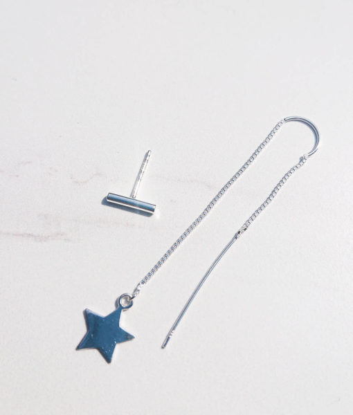 star and stud earring
