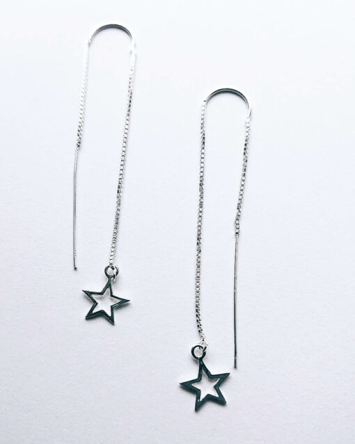 start earrings silver