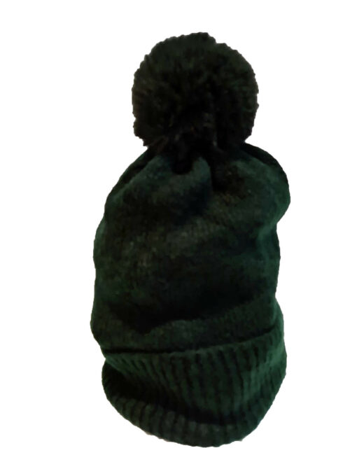 forest green bobble hat